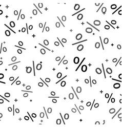 black percent symbol discount icon isolated vector image