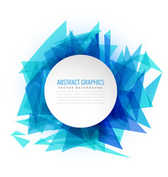 Blue abstract triangle background frame vector