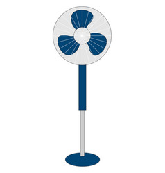 blue fan on white background vector image