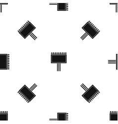 Board for statistics pattern seamless black vector