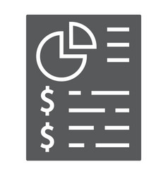 Budget planing glyph icon finance and banking vector