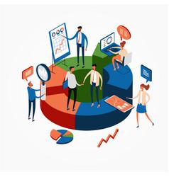 Business statistics web banner vector