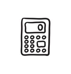 calculator sketch icon vector image