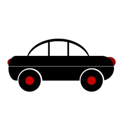 Car symbol sign on white vector image
