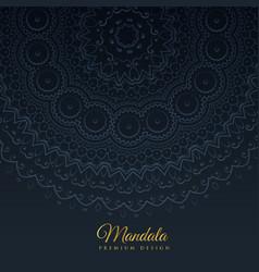 Card mandala decoration background vector
