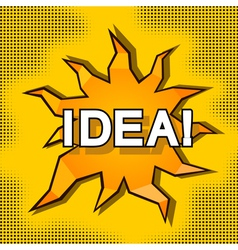 Cartoon of idea vector