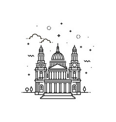 cathedral icon outline vector image