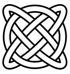 Celtic knot symbol eternal life infinity vector