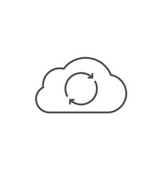cloud data synchronization vector image