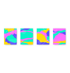 colorful set with abstract pattern cartoon vector image