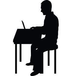 Computer Man Black vector image