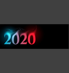 creative 2020 happy new year text banner on black vector image