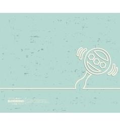 Creative rattle Art template vector