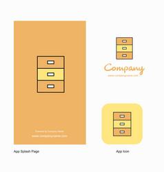 cupboard company logo app icon and splash page vector image