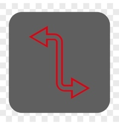 Curved Exchange Arrow Rounded Square Button vector