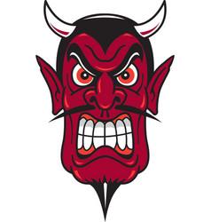 Devil head logo mascot vector
