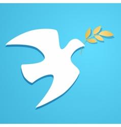 Dove silhouette Logo template vector image