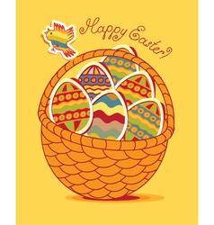 egg basket vector image