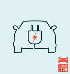 electric car icon isolated vector image