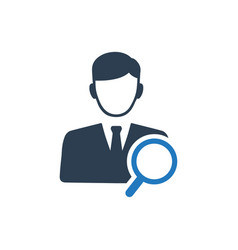 Find employee icon vector