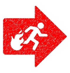 Fire Exit Grainy Texture Icon vector