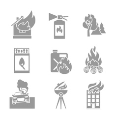 Fire Protection Icons vector image