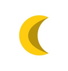 flat crescent moon vector image