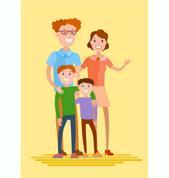 flat style family vector image