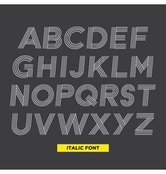 font italic stripes vector image