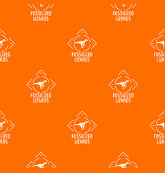 Fossilized lizard pattern orange vector