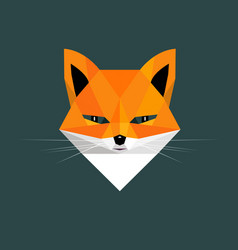 Fox portrait vector