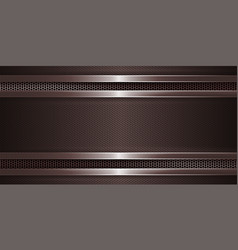 Geometric brown background with metal grille and vector