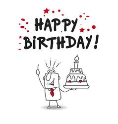 Happy birthday boss vector