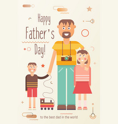 happy fathers day greeting card vector image