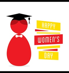 happy womens day women graduate design vector image