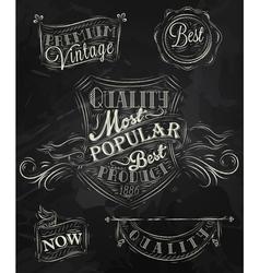 Heraldry chalk premium vector image