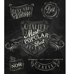 Heraldry chalk premium vector
