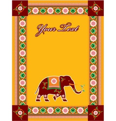 hindu template with elephant vector image