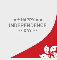 Hongkong independence day typographic design with vector