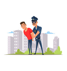 Lawbreaker arrest flat vector