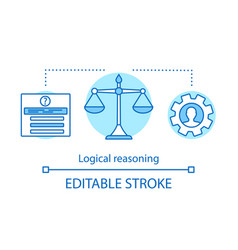 Logical reasoning concept icon vector