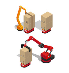 Manufacturing process of boxes vector