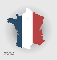 map france in color national flag vector image