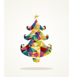 Merry christmas contemporary pine tree greeting vector
