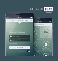 Mobile ui design concept vector