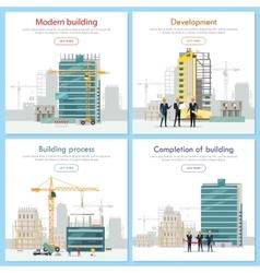 Modern Building Development Building Process vector image