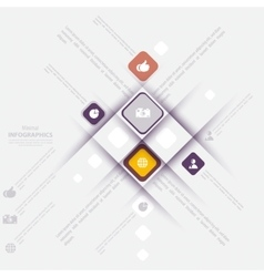 Modern info-graphic template with icons for vector image