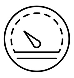 Performance speedometer icon outline style vector