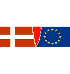 Politic relationship European Union and Denmark vector