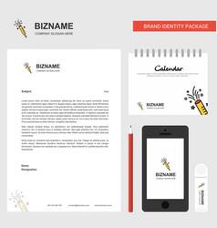 pop business letterhead calendar 2019 and mobile vector image